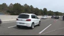 Retenciones en la AP-7 en Roda de Berà por un accidente con cuatro vehículo implicados