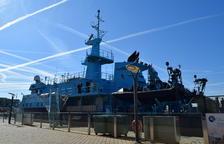 El barco de operaciones especiales de Vigilancia Aduanera, Fulmar, ha atracado en Tarragona