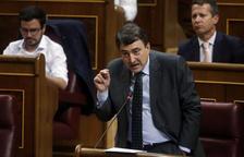 El portavoz del Partido Nacionalista Vasco en el Congreso de los Diputados, Aitor Esteban, interviene en el debate de investidura de Mariano Rajoy el 31 de agosto del 2016.