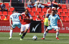 Fali inicia una cursa durant el partit que va disputar el Nàstic a casa contra el Numancia.