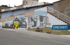 Constantí llueix dos murals dedicats als Jocs Mediterranis