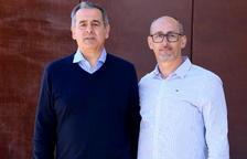 Los alcaldes de Llorenç del Penedès y Banyeres del Penedès, Jordi Marlès i Amadeu Benach, después de declarar a los juzgados del Vendrell