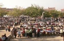 Imatge de la 18a Diada de la Puntaire celebrada a l'Arboç l'any 2005.