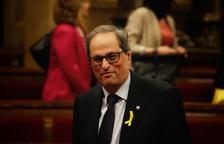 El presidente de la Generalitat, Quim Torra, quiere restituir a todos los consejeros consellers del anterior gobierno.