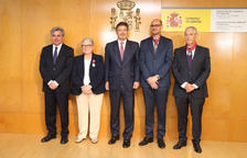 D'esquerra a dreta, el subdelegat del Govern Jordi Sierra, Gil, Catalá, González i García.