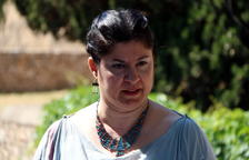 Primer pla de l'actriu Karme González, representant «Artemísia», la germana d'Hermione, en un dels monòlegs de Tarraco Viva