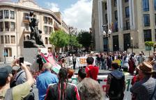 Un moment de la concentració a Tarragona