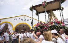 La romeria, en l'espai del Santuari de Loreto on es van instal·lar les diverses casetes.