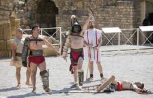 L'arena de l'Amfiteatre va ser testimoni de la recreació de les lluites de gladiadors, amb un públic entregat a la recreació històrica.
