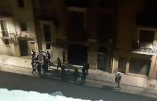 Captura de imagen del vídeo de la riña subida a las redes por Farts de Soroll