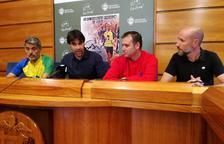 Imatge de la roda de premsa de la presentació de la cursa, organitzada pels Runners El Vendrell i la regidoria d'Esports de l'Ajuntament.
