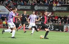 L'únic gol de Querol aquesta temporada el va aconseguir contra el Valladolid a l'Estadi.