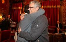 Dídac Nadal y Jordi Sendra el día de la toma de posesión de Nadal como concejal.
