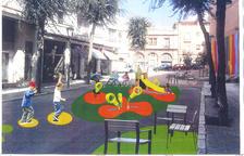 Imagen de la zona infantil de Ixart que el Ayuntamiento mostró a la asociación de vecinos.