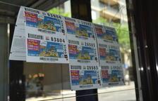 Los vendedores del ONCE, desbordados por la demanda de cupones de los Juegos Mediterráneos