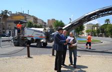 El Servicio de Movilidad y Circulación de la Guardia Urbana ha rediseñado la señalización horizontal del paseo Mata.