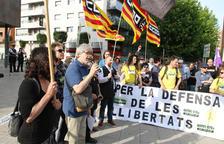 Imatge de la concentració, celebrada a dos quarts de set de la tarda a la plaça Imperial Tarraco.