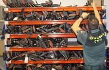 Entre les armes foses hi havia armes blanques i d'aire comprimit que havia intervingut la Guàrdia Civil o altres cossos especials de Tarragona.