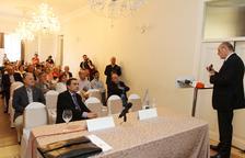 Mariano Marzo, durant la conferència que va oferir durant la presentació del Pla de Sostenibilitat.