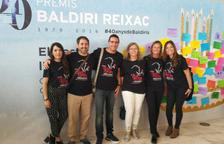 Mestres de l'Institut Collblanc de la Canonja recullen el premi Baldiri Reixac 2018
