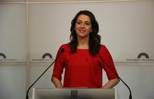 La presidenta del grup parlamentari de Cs, Inés Arrimadas