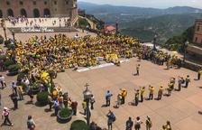 Más de 800 Avis i Àvies de Cataluña tiñen de amarillo Montserrat