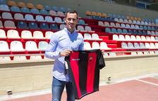 Miguel Linares, a l'Estadi Municipal de Reus, on la pròxima temporada vol seguir marcant gols.