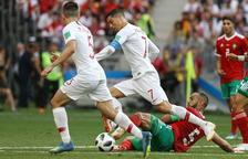 Cristiano Ronaldo durant el partit contra el Marroc.