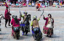 Imagen de archivo del Ball de Cavallets en la actuación de lucimiento del día de Sant Pere.