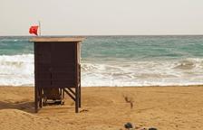 Sancionen un grup de joves per banyar-se amb bandera vermella a la platja del Miracle