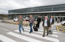 Usuaris a les instal·lacions de la capital del Baix Camp, en l'inici de la campanya turística, al març.