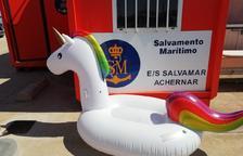 La nena de 4 anys es trobava amb el seu flotador a la badia dels Alfacs.