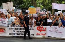 Afectados de todo el Estado llevaron su protesta a Madrid.