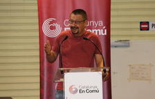 El líder Catalunya en Comú-Podem, Xavier Domènech, durant la seva intervenció al Consell Nacional.
