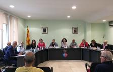 Imagen de archivo de un pleno del Ayuntamiento de la Bisbal del Penedès.
