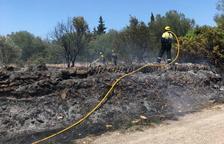Es produeixen dos incendis en menys d'una hora a Amposta