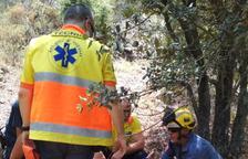 Rescaten una excursionista que s'ha trencat la cama a Cabra del Camp