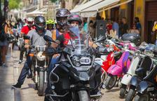 Les festes de Sant Roc arrenquen amb una gran trobada de motos