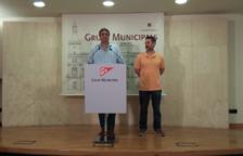 El portavoz del grupo municipal naranja, Juan Carlos Sánchez, en la rueda de prensa.