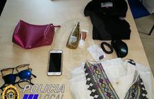 Imagen de los objetos sustraídos por la presunta autora.