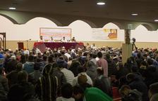L'interior de la mesquita del polígon Granja Vila, durant un acte anterior.