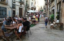 Imagen de la terraza en la plaza de los Sedassos.