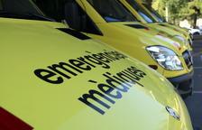 Plano detalle de las ambulancias del Sistema de Emergencias Médicas.