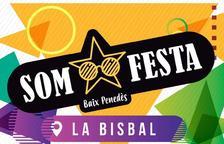 Cartell de l'acte principal de SOM FESTA, el qual tindrà lloc el 10 de setembre a la Bisbal del Penedès.