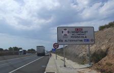 Els camions ja no circulen per l'N-340 ni l'N-240 a Tarragona