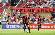 Imagen del partido del domingo en el Estadio contra el Albacete.
