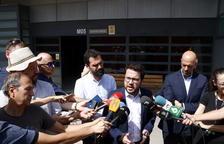 Torrent i Aragonès, després de visitar Forcadell: «Cap democràcia pot aguantar una presidenta del Parlament a la presó»