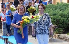 Mig centenar d'entitats i col·lectius participen a l'ofrena floral de Salou