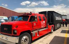 El Camió Estrella Galicia ofert per Ciutadans passa de llarg de l'Arrabassada