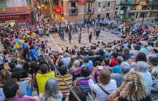 La plaça de les Cols viu la recuperació del ball de Sebastiana del Castillo